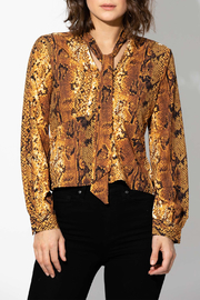 Haute Rogue Animal Print Blouse - Front cropped