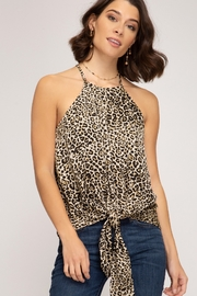 She and Sky Animal Print Cami Top - Product Mini Image