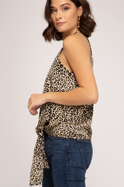She and Sky Animal Print Cami Top - Side cropped