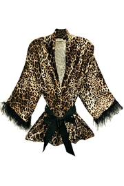 ANTONELLO SERIO Animal Print Cardigan - Front cropped