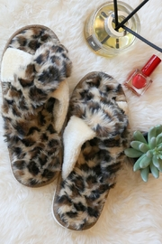 Wanna B Animal Print Cozy Criss Cross Slippers - Product Mini Image