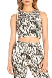Dance and Marvel Animal Print Crop Top - Front cropped