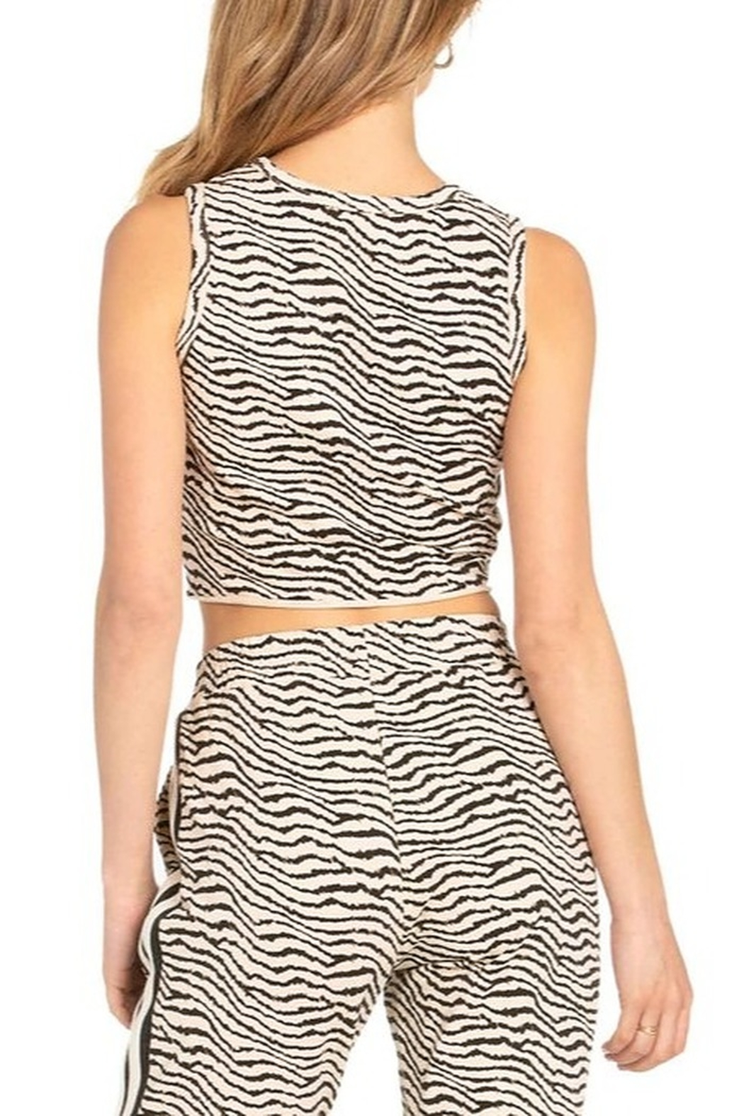 Dance and Marvel Animal Print Crop Top - Side Cropped Image