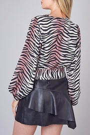 Do & Be Animal Print Crop Top - Front full body