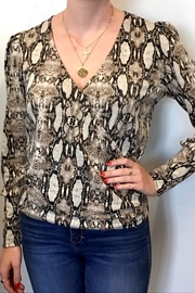 Veronica M Animal Print Crossover Top - Front cropped