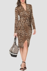 Joseph Ribkoff Animal Print Dress - Front cropped