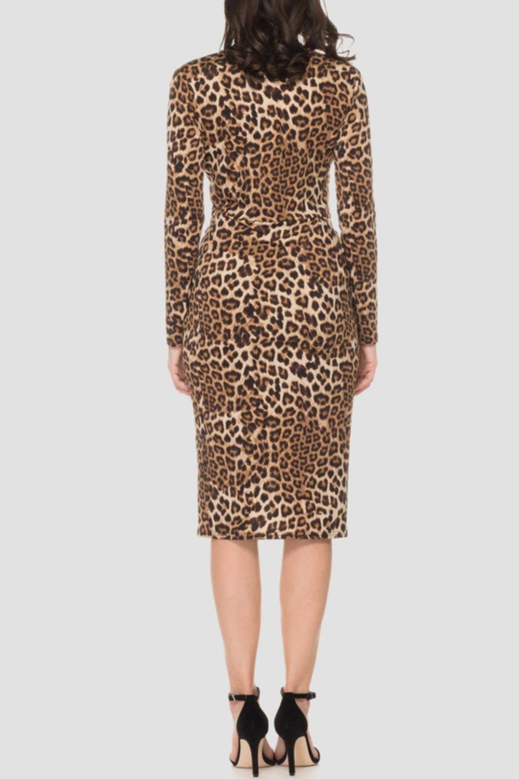 Joseph Ribkoff Animal Print Dress - Front Full Image