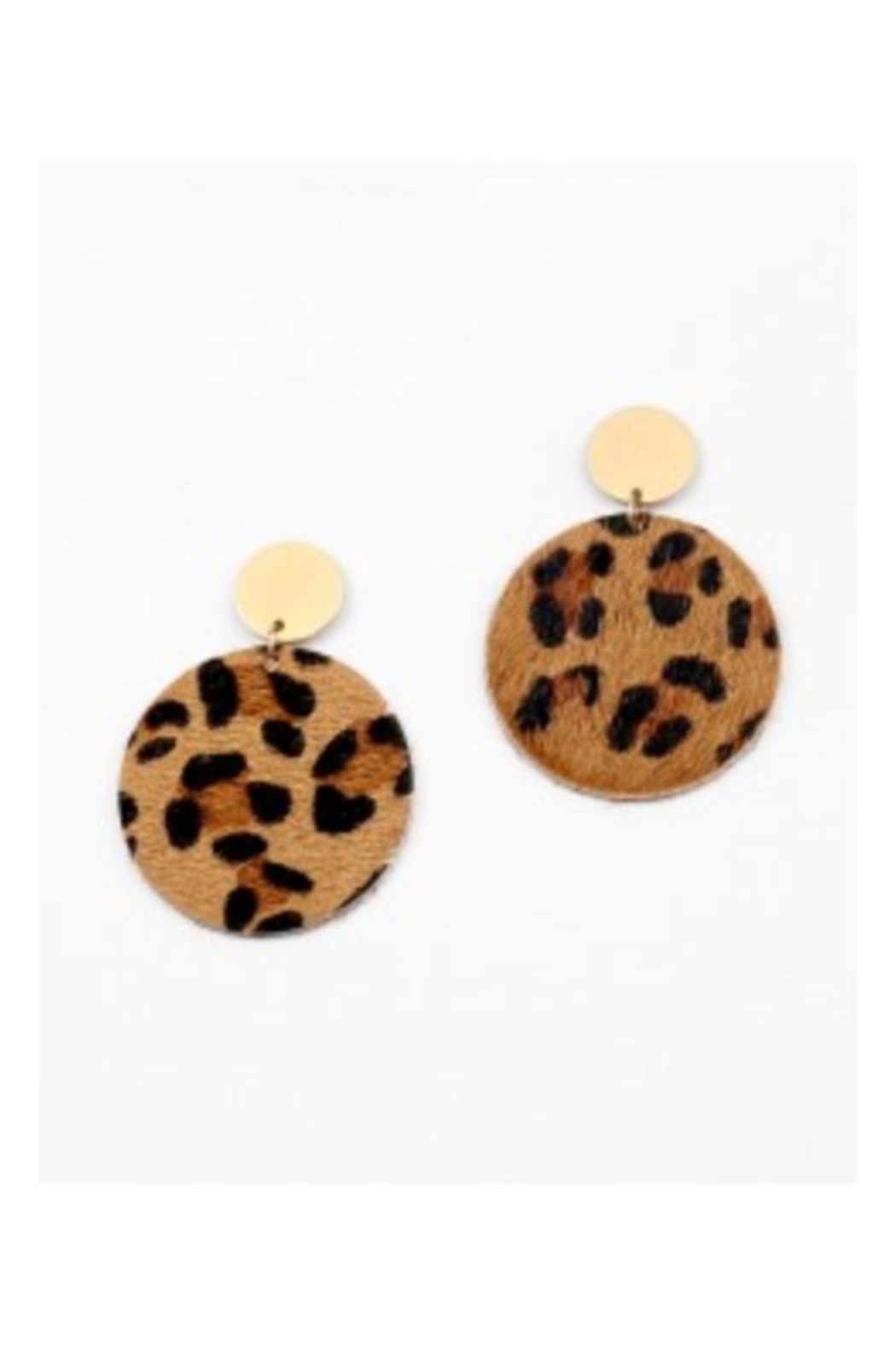 Al Boutique Animal Print Earrings Front Cropped Image