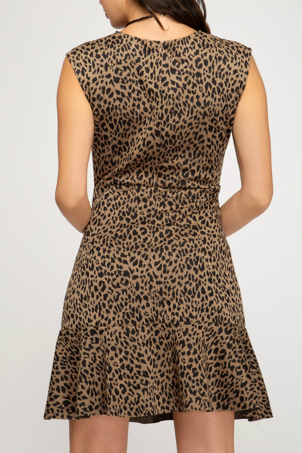 She + Sky Animal print fit and flare dress - Front Full Image