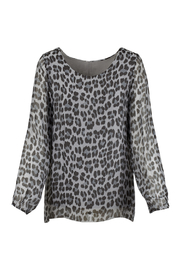 M made in Italy Animal Print Flowy Blouse - Product Mini Image