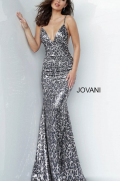Jovani Animal Print Gown - Product List Image