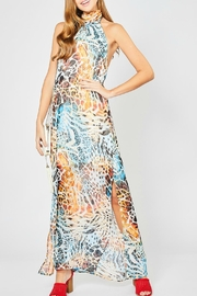 Entro Animal-Print Halter Maxi - Product Mini Image