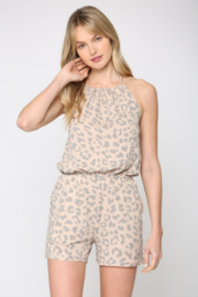 Fate  Animal Print Halter Neck Romper - Product Mini Image