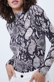 French Connection ANIMAL PRINT HIGH NECK TOP - Product Mini Image