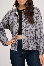 She+Sky Animal Print Jacket - Front cropped