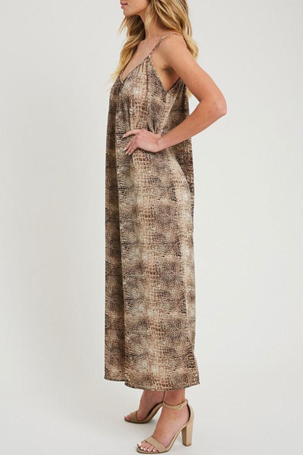 ee:some Animal Print Jumpsuit - Side Cropped Image