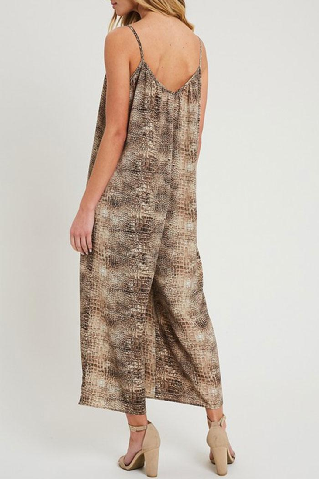ee:some Animal Print Jumpsuit - Front Full Image