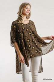 Umgee USA Animal Print Kaftan - Product Mini Image
