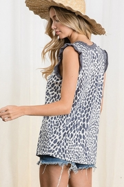 Ces Femme  Animal Print Knit Top - Side cropped