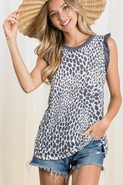 Ces Femme  Animal Print Knit Top - Front cropped