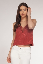 Dex Animal Print & Lace Cami - Front cropped