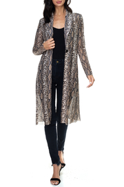 Ariella USA Animal Print Lightweight Duster - Front cropped