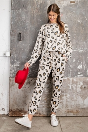 easel  Animal Print Loungewear - Front cropped