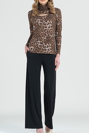 Clara Sunwoo Animal print  mock neck top - Product Mini Image