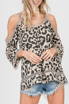 Racheal Animal-Print Off-The-Shoulder - Product List Image