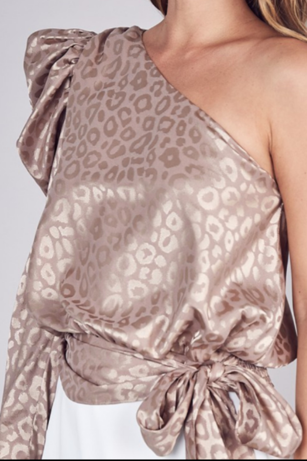 Do + Be  Animal print one shoulder - Front Full Image