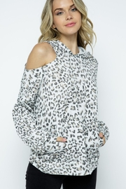 Twenty Second Animal Print One Sided Open Shoulder Top - Product Mini Image