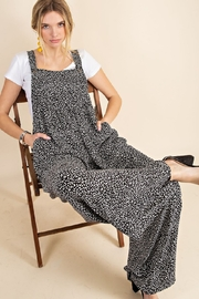 Kori Animal Print Overall Jumpsuit - Front cropped