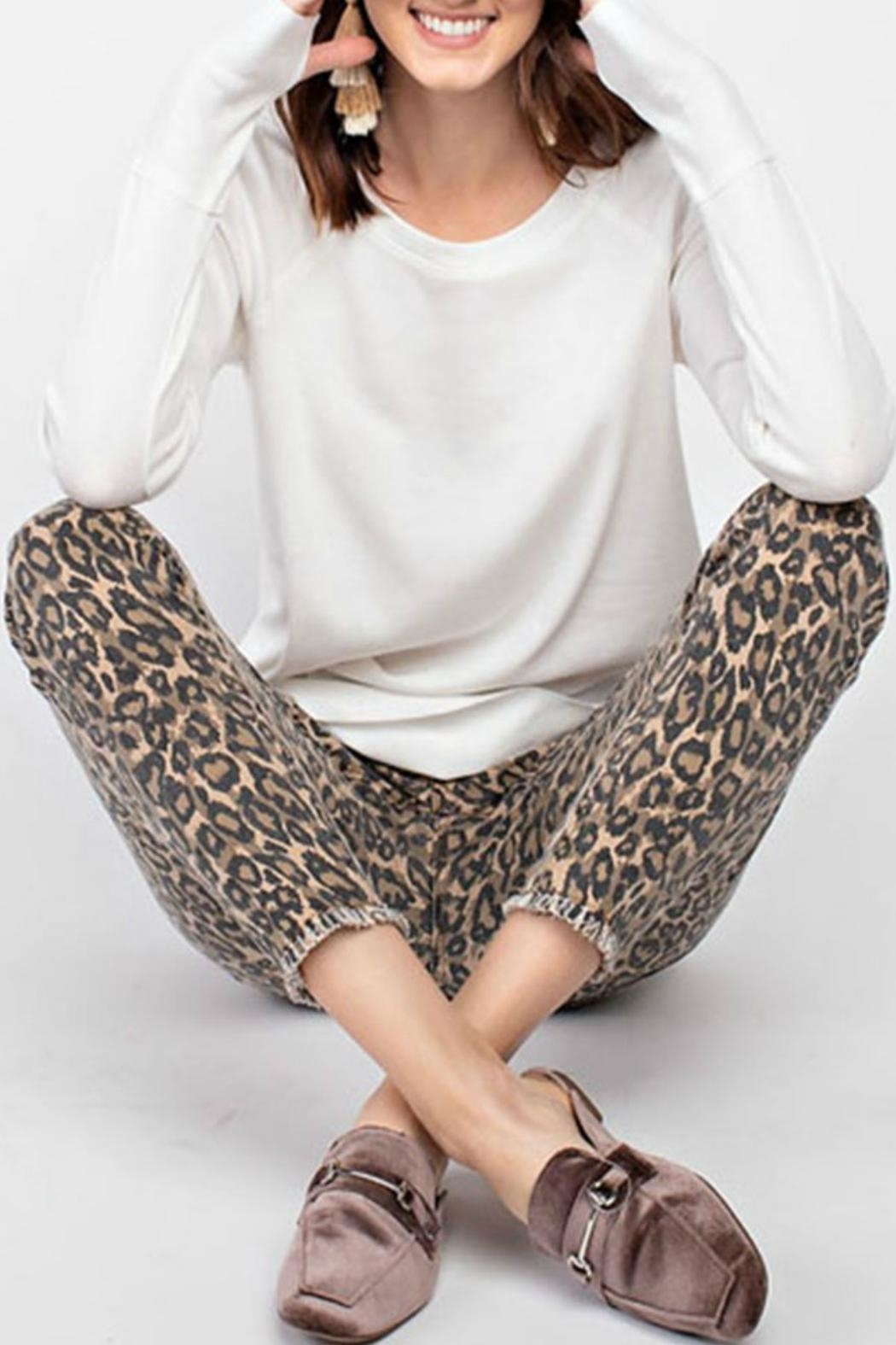 easel Animal Print Pants - Side Cropped Image