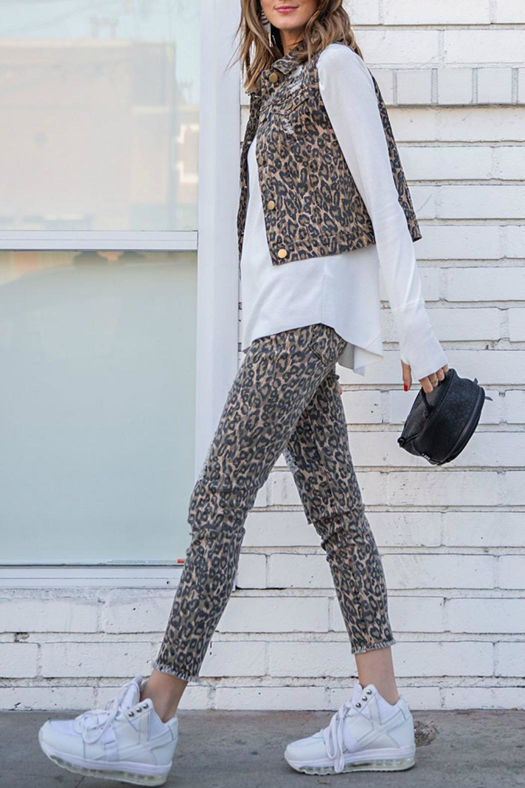 easel Animal Print Pants - Front Full Image