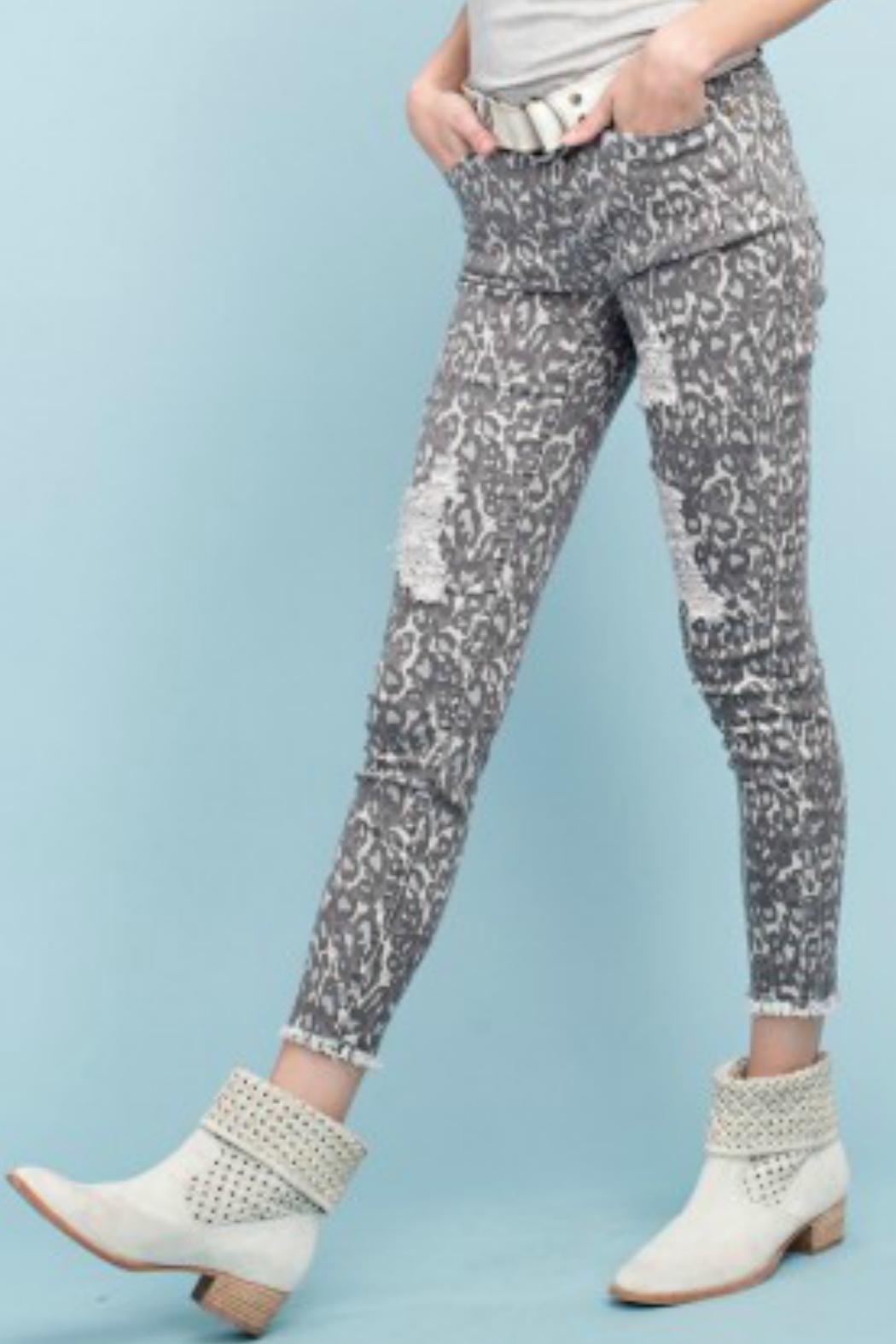 easel Animal Print Pants - Back Cropped Image