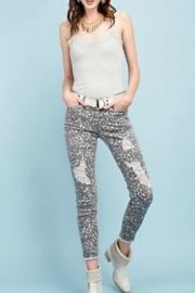 easel Animal Print Pants - Front cropped