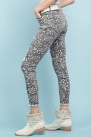 easel Animal Print Pants - Front full body