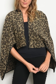 Dance & Marvel Animal Print Poncho - Product Mini Image
