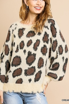 Shoptiques Product: Animal Print Pullover Sweater