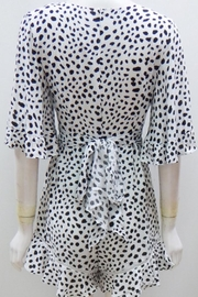 Selfie Leslie Animal Print Romper - Front full body