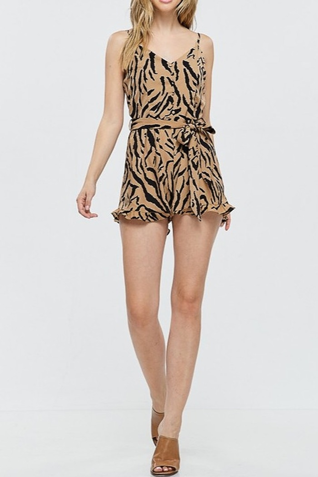 Papermoon Animal Print Romper - Back Cropped Image