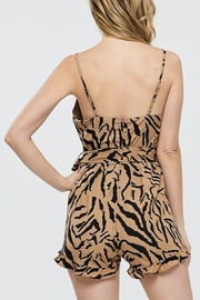 Papermoon Animal Print Romper - Front full body