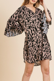 Umgee USA Animal print ruffle sleeve dress - Product Mini Image