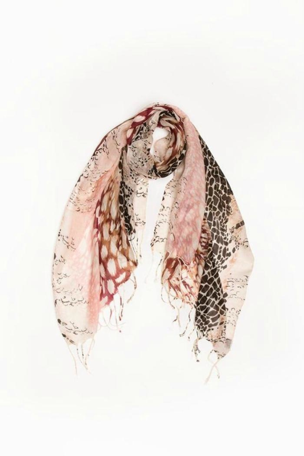 Look by M Animal Print Scarf - Main Image