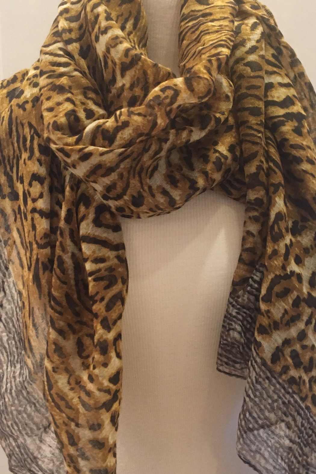 deannas animal print scarf - Main Image
