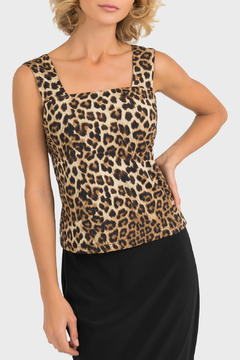 Shoptiques Product: Animal Print Sleeveless Top