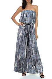 Ariella USA Animal Print Strapless Jumpsuit w Rope Belt - Front cropped