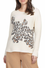 tribal  Animal Print Sweater - Front cropped