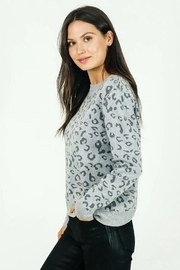 Six Fifty Animal Print Sweater - Front cropped