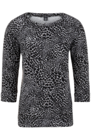 Tribal  Animal print sweater, black and grey - Product Mini Image